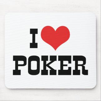 I Love Heart Poker - Texas Holdem Lover Mouse Pad