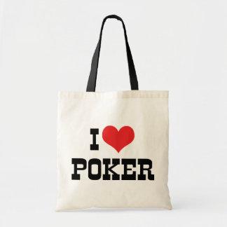I Love Heart Poker - Texas Holdem Lover Tote Bag