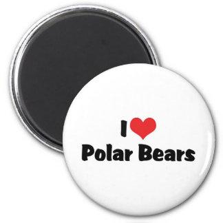 I Love Heart Polar Bears Magnet