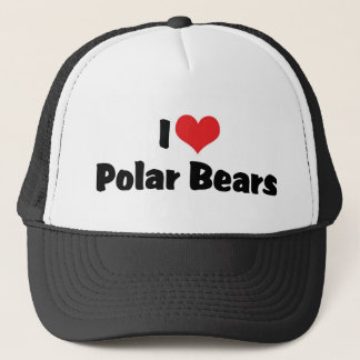 I Love Heart Polar Bears Trucker Hat