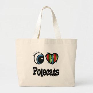 I Love (Heart) Polecats Tote Bag