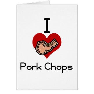I love-heart pork chop card