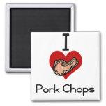 I love-heart pork chop magnet