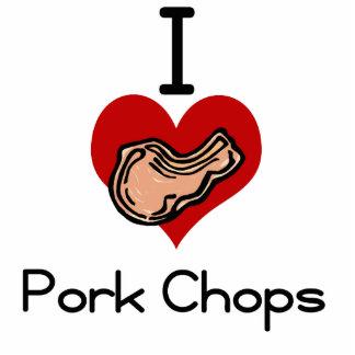I love-heart pork chop photo cutouts