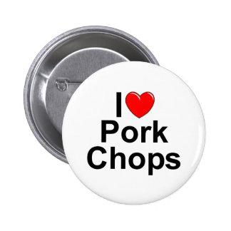 I Love (Heart) Pork Chops 2 Inch Round Button