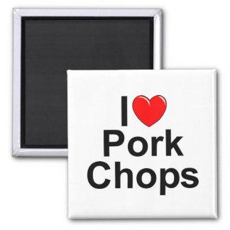 I Love (Heart) Pork Chops Magnet