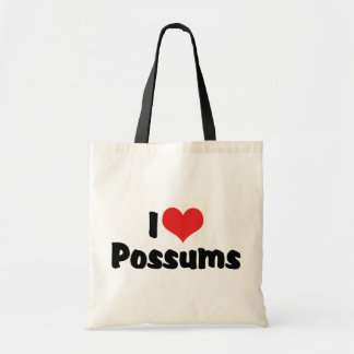 I Love Heart Possums Tote Bag
