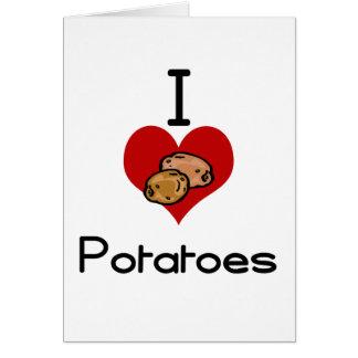 I love-heart potato card