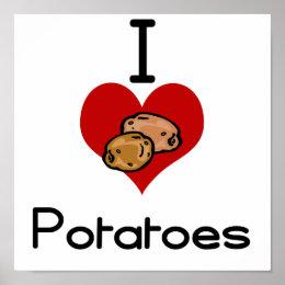 I love-heart potato poster