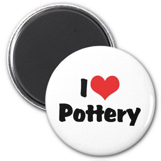 I Love Heart Pottery - Clay Lover Magnet