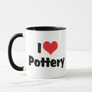 I Love Heart Pottery - Clay Lover Mug