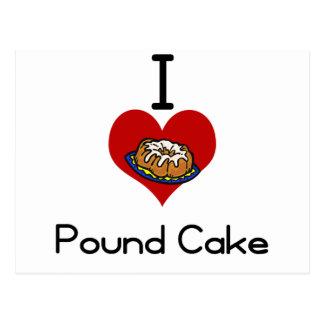 I love-heart poundcake postcard