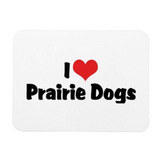 I Love Heart Prairie Dogs Magnet