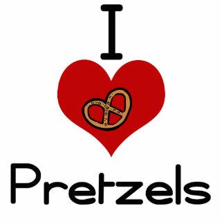 I love-heart pretzel cut outs