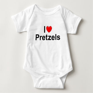 I Love (Heart) Pretzels Baby Bodysuit
