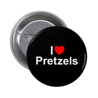 I Love (Heart) Pretzels Button