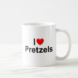 I Love (Heart) Pretzels Coffee Mug