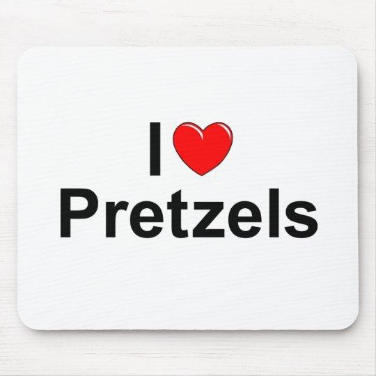 I Love (Heart) Pretzels Mouse Pad