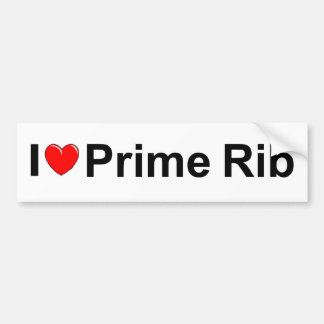 I Love (Heart) Prime Rib Bumper Sticker