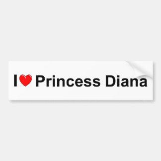 I Love (Heart) Princess Diana Car Bumper Sticker