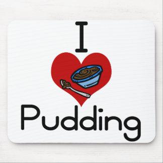 I love-heart pudding mouse pad