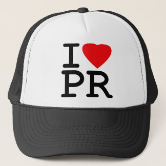 I Love Heart Puerto Rico Trucker Hat