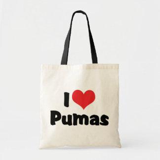 I Love Heart Pumas Tote Bag