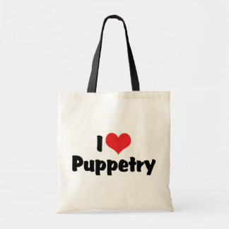 I Love Heart Puppetry - Ventriliquism Lover Tote Bag