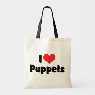 I Love Heart Puppets - Puppet Lover Tote Bag