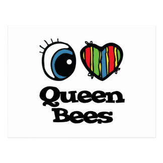 I Love (Heart) Queen Bees Post Card