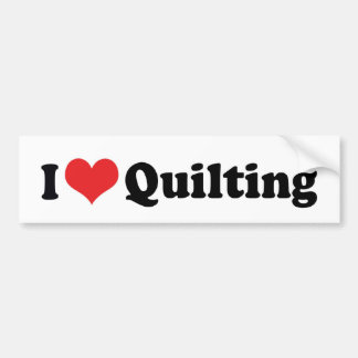 I Love Heart Quilting - Sewing Quilter Bumper Sticker
