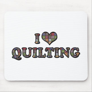 I Love Heart Quilting - Sewing Quilter Mouse Pad