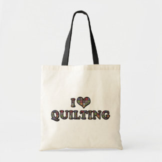 I Love Heart Quilting - Sewing Quilter Tote Bag