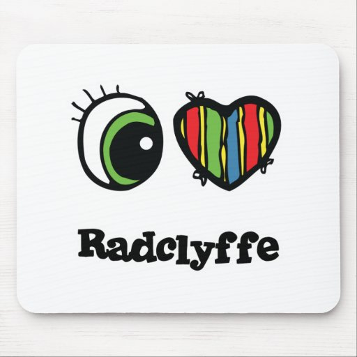 I Love (Heart) radclyffe Mouse Pads