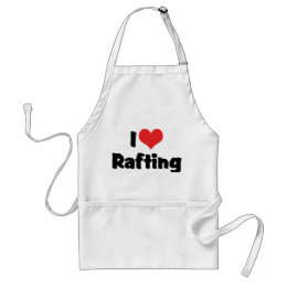 I Love Heart Rafting - White Water Raft Lover Adult Apron