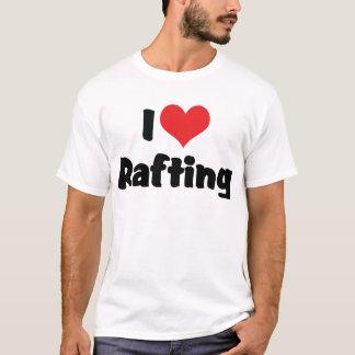 I Love Heart Rafting - White Water Raft Lover T-Shirt