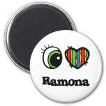 I Love (Heart) ramona 2 Inch Round Magnet