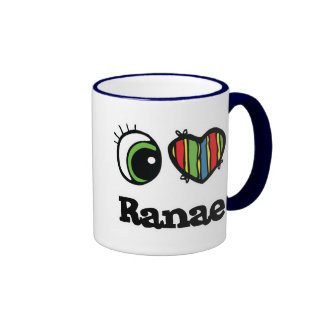 I Love Heart Ranae Coffee Mugs