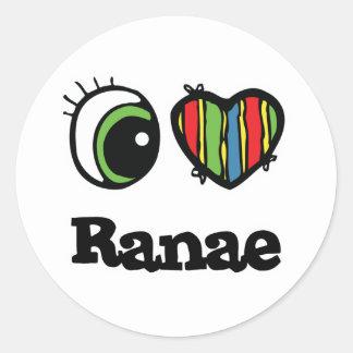 I Love Heart Ranae Sticker