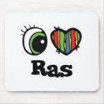 I Love (Heart) Ras Mouse Mats