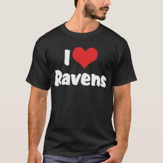 I Love Heart Ravens - Bird Lover T-Shirt