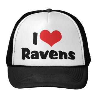 I Love Heart Ravens - Bird Lover Trucker Hat