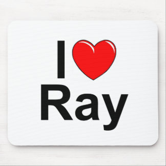 I Love (Heart) Ray Mouse Pad