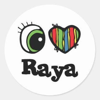 I Love (Heart) Raya Sticker
