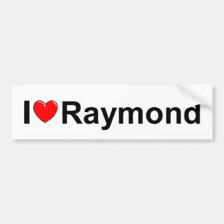 I Love (Heart) Raymond Bumper Sticker