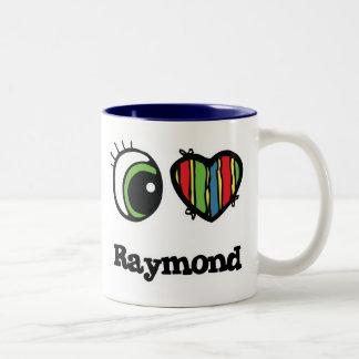 I Love (Heart) Raymond Two-Tone Coffee Mug
