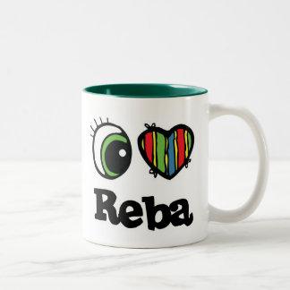 I Love (Heart) Reba Two-Tone Coffee Mug