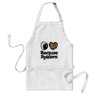 I Love (Heart) Recluse Spiders Adult Apron