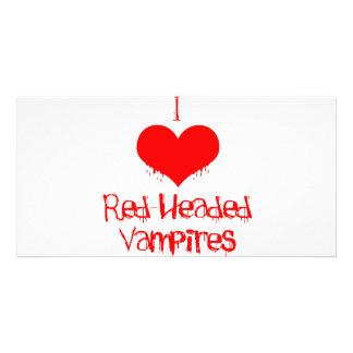 I Love (heart) Red-Headed Vampires Card