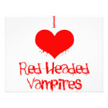 I Love (heart) Red-Headed Vampires Personalized Invites